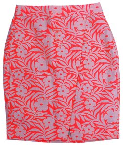 J.Crew Pencil Crossover Dry Clean Floral Skirt PLUMERIA JACQUARD