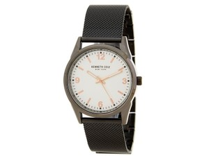 Kenneth Cole 10030647 Classic Men's Gunmetal Steel Bracelet With White Dial Watch