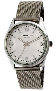 Kenneth Cole 10030780 Classic Men Silver Steel Bracelet With White Analog Dial