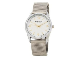 Kenneth Cole 10030781 Classic Men Silver Steel Bracelet With Cream Analog Dial