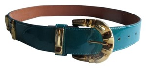 Roberto Cavalli ORIGINAL ROBERTO CAVALLI leather Patent with Buckle Signature Belt