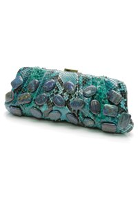 Michael Kors Turquoise, black, blue Clutch