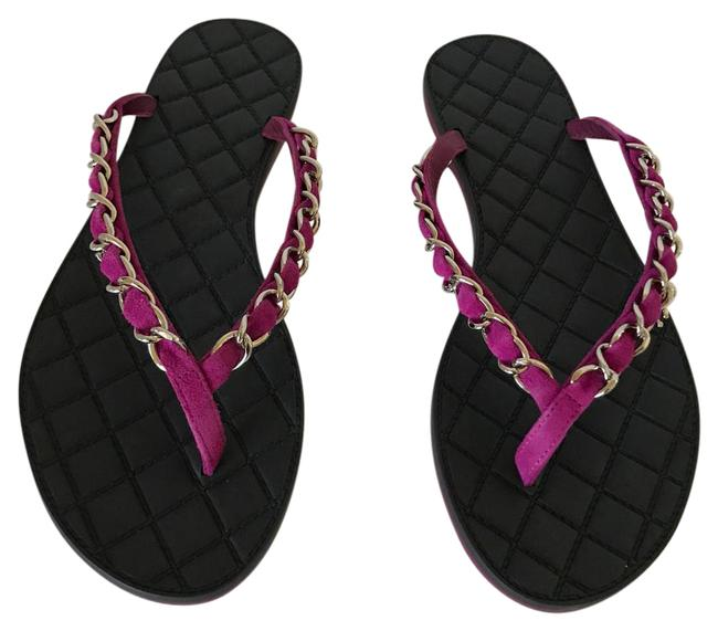 Chanel Purple New 15s Chain Quilted 37 Flops Flats Size US 7 Regular (M, B) Chanel Purple New 15s Chain Quilted 37 Flops Flats Size US 7 Regular (M, B) Image 1