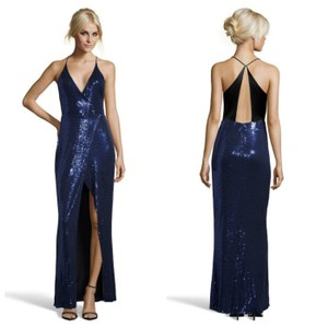 A.B.S. by Allen Schwartz Sequin Evening Prom Wrap Gown Dress