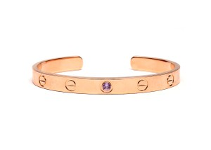 Cartier Cartier LOVE Rose Gold Cuff with Pink Sapphire