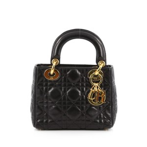 Dior Christian Lambskin Lady Tote