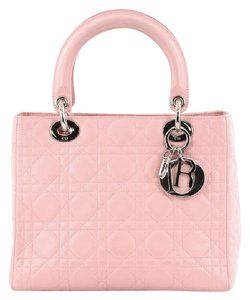 Dior Christian Lambskin Cannage Tote