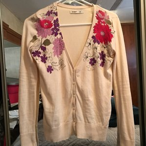 Old Navy Floral Pattern Print Sweater Cardigan