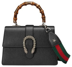 Gucci Dionysus Web Swarovski Strap Top Handle Shoulder Bag