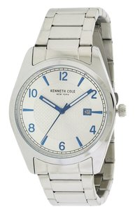 Kenneth Cole 10031328 Men's Silver Steel Bracelet With Silver Analog Dial