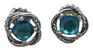 David Yurman David Yurman Blue Topaz Chatelaine Earrings