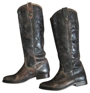 Frye Brown Antiqued Finish Boots
