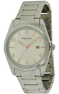 Kenneth Cole 10031329 Men's Silver Steel Bracelet With Grey Analog Dial