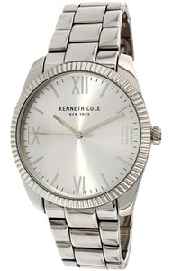 Kenneth Cole 10031334 Men's Silver Steel Bracelet With Silver Analog Dial