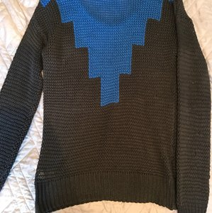 Belle du Jour Geometric Aztec Shapes Squares Sweater