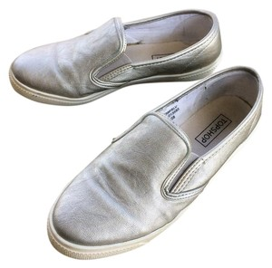 Topshop Slip-on Sneakers Silver Athletic