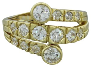 Other 18k Yellow Gold 1.30ctw Diamond Bypass Ring