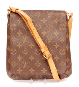 Louis Vuitton Monogram Canvas Classic Musette Salsa Leather Shoulder Bag
