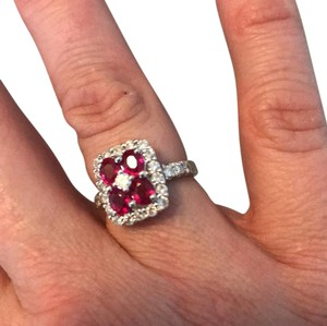 Rio Pearl 18K White Gold Diamond and Ruby Ring