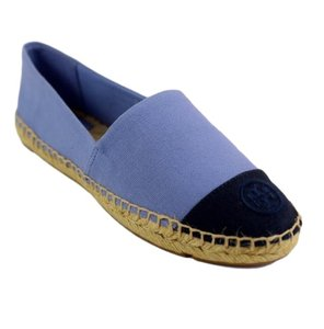 Tory Burch Espadrille Light Purple/Navy Blue Flats