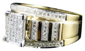 Other 10K Yellow Gold Diamond Engagement Bridal Pave Xl Ring