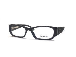 Chanel Twill Black Square Eyed Optical Glasses