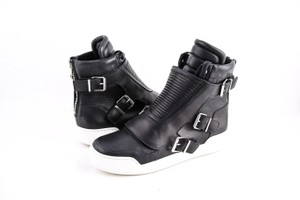 Balmain Black Quilted Leather High-top Sneakers Shoes