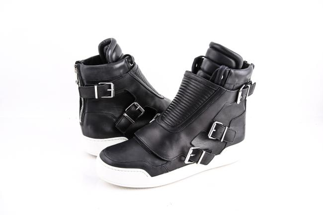Item - Black Quilted Leather High-top Sneakers Shoes