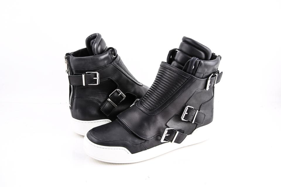 1cba52353a8 Balmain Black Quilted Leather High-top Sneakers Shoes - Tradesy