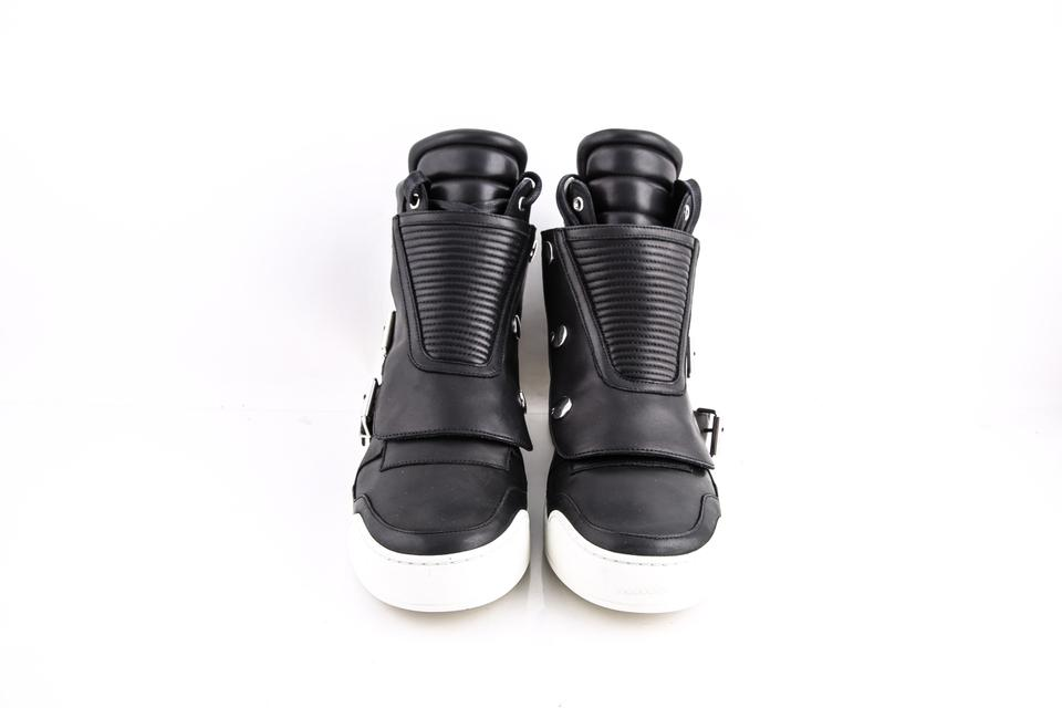 Quilted Balmain Shoes Sneakers Black Leather top High ZZpq5Twr
