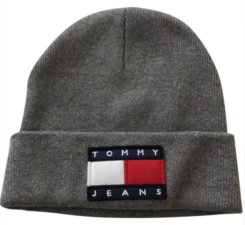 80db375665ae3 Tommy Hilfiger Grey with Classic Logo 90 s Knit Beanie Hat - Tradesy