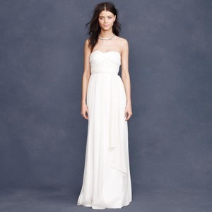 J.Crew Ivory Silk Chiffon Taryn Destination Wedding Dress Size 0 (XS)