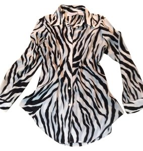 Diane von Furstenberg Top Black/white