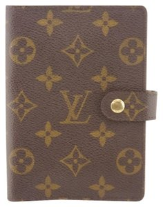 Louis Vuitton K304 Monogram Leather Notebook Agenda PM Planner Card Case