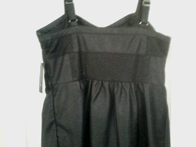 Charlotte Ronson Faux Leather Babydoll Dress