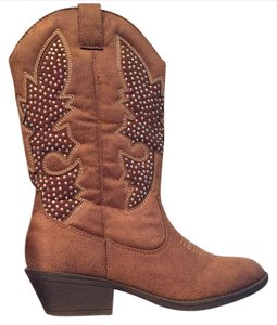 Justice Cowboy Rodeo Brown Size 7 Boots