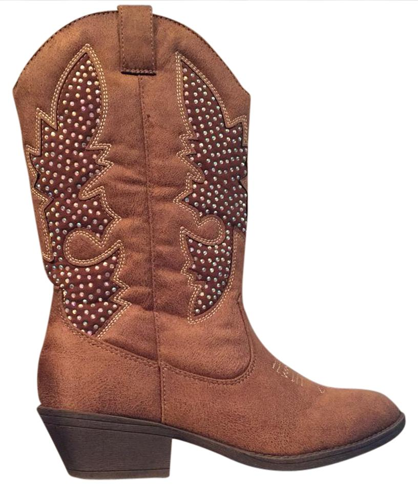 14f4ddce704 Justice Brown/Camel Cowboy Boots/Booties Size US 7 Regular (M, B)