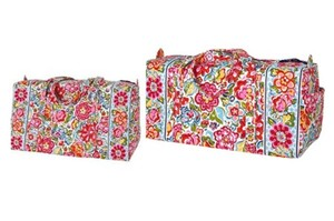 Vera Bradley Weekender Carry-on Large Duffel Small Duffel Hope Garden Travel Bag