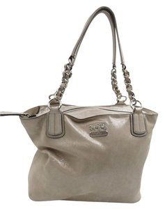 Coach Metallic Leather Shoulder Bag