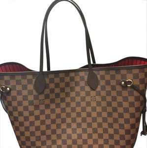 Louis Vuitton Classic Damier Tote in Brown/Red