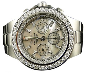 Breitling BREITLING HERCULES DIAMOND STAINLESS STEEL BAND WATCH 7.75 CT