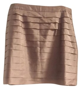 Ann Taylor LOFT Mini Skirt copper tone
