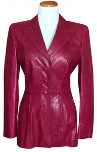 Escada Fusia Leather Jacket
