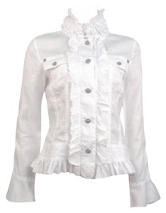 Twisted Heart White linen Jacket