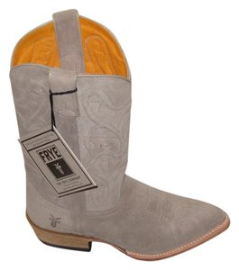 Frye Western Tall Suede Color Bruce Style Natural Boots