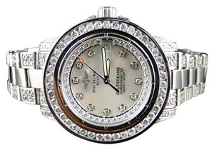 Breitling Custom Ladies Aeromarine White Colt Ocean Diamond Watch 9.5 Ct