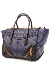 Miu Miu Satchel in Navy blue, black