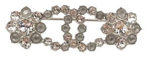 Chanel Chanel Brand New Silver Grey Snowflake Brooch