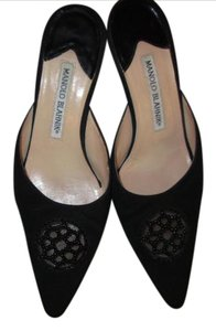 Manolo Blahnik Vintage Beaded Black Pumps