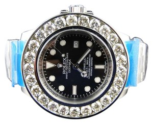 Rolex Custom Rolex 46 Mm Sea Dweller Deep Sea Genuine Diamond Watch